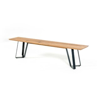 17 Stories Yip Drift Wooden Bench