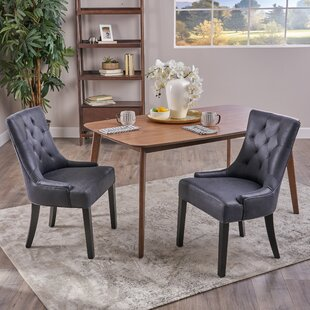 Wynsum Traditional Microfiber Dining Chair (Set of 2)