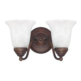 West 2-Light Vanity Light by Charlton Home
