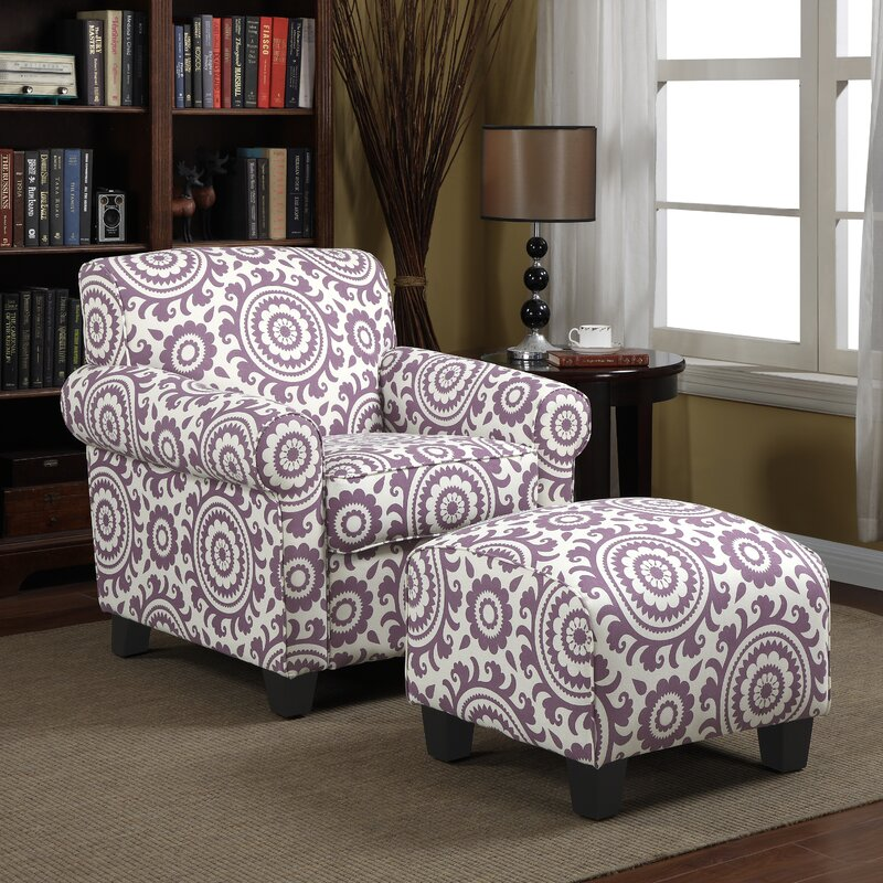 Clarke Armchair and Ottoman