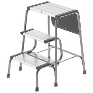 3-Step Aluminum Folding Step Stool with 330 lb. Load Capacity