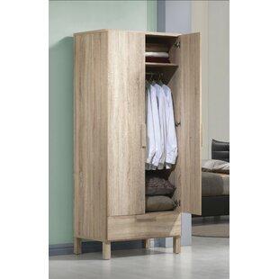 Petrovich Wooden Wardrobe Armoire by Union Rustic