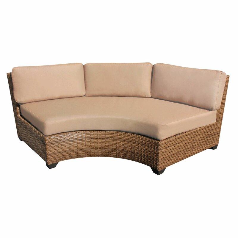 Waterbury Curved Sofa with Cushions