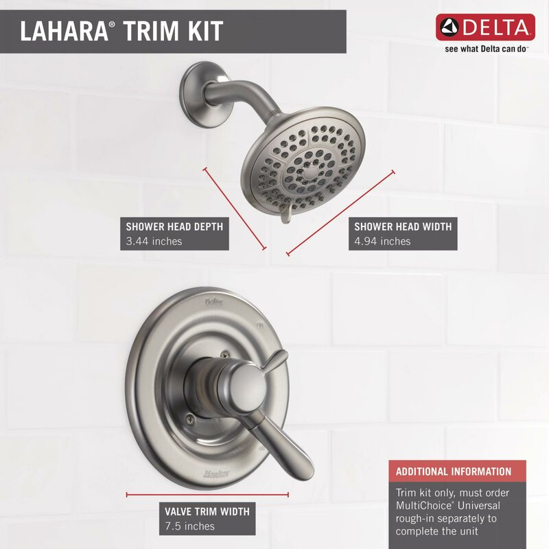Delta Lahara Shower Faucet Trim with Lever Handles and Monitor   Wayfair