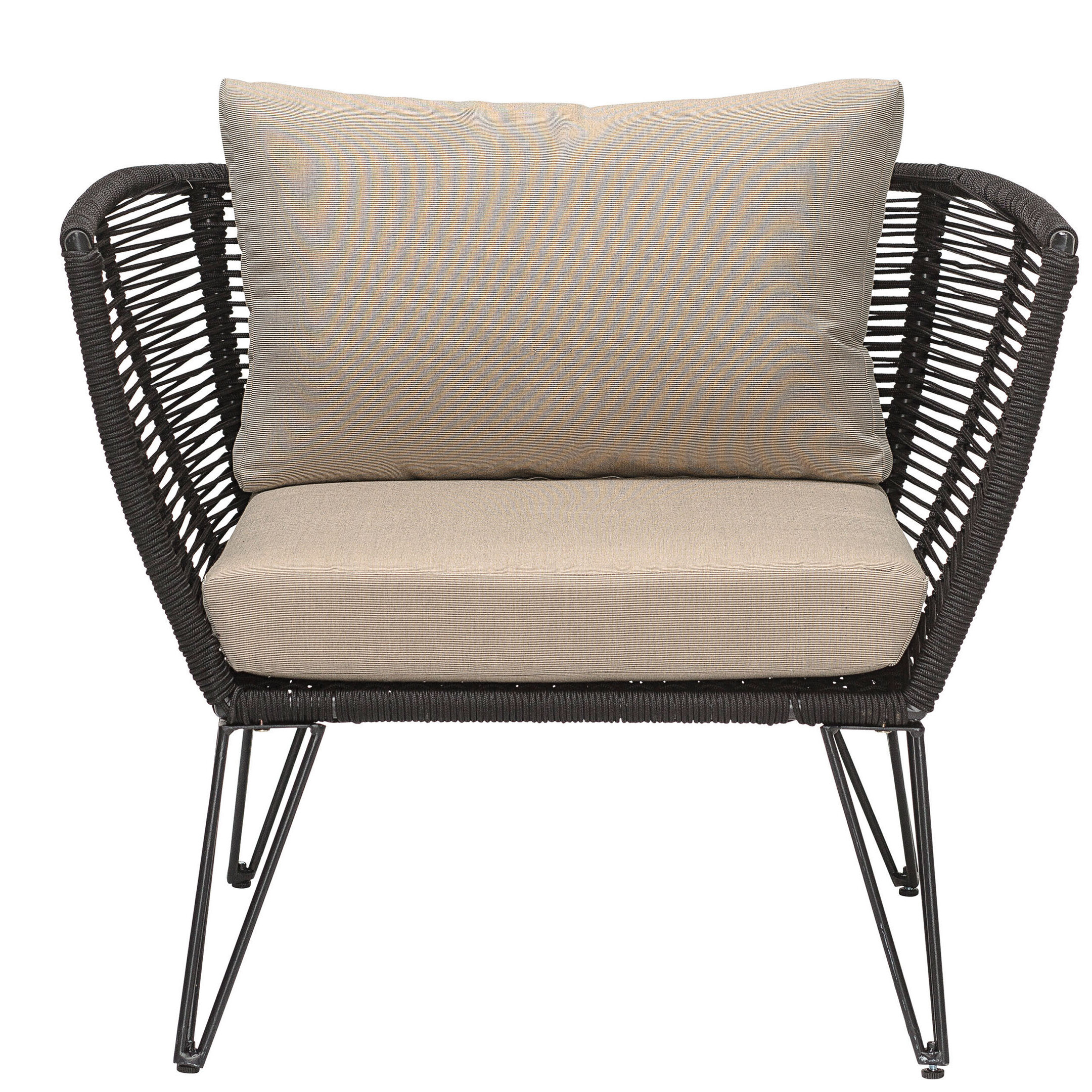 Marvelous Deanne Metal And Woven Rope Barrel Chair Allmodern Andrewgaddart Wooden Chair Designs For Living Room Andrewgaddartcom