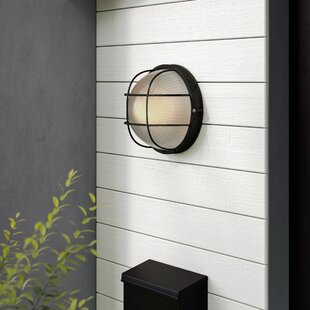 Beachcrest Home Flintwood LED Outdoor Bulkhead Light