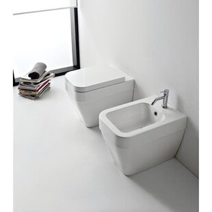 Looking for Bucket Ceramic Rectangular Vessel Bathroom Sink with Overflow By Scarabeo by Nameeks