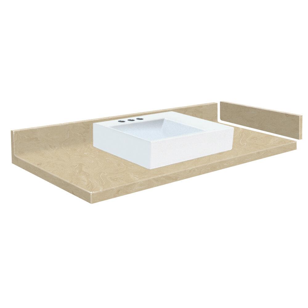 Transolid Newport 49 Solid Surface Single Bathroom Vanity Top Wayfair