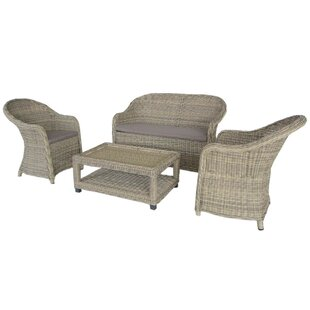 Judah 4 Seater Rattan Sofa Set By Sol 72 Outdoor