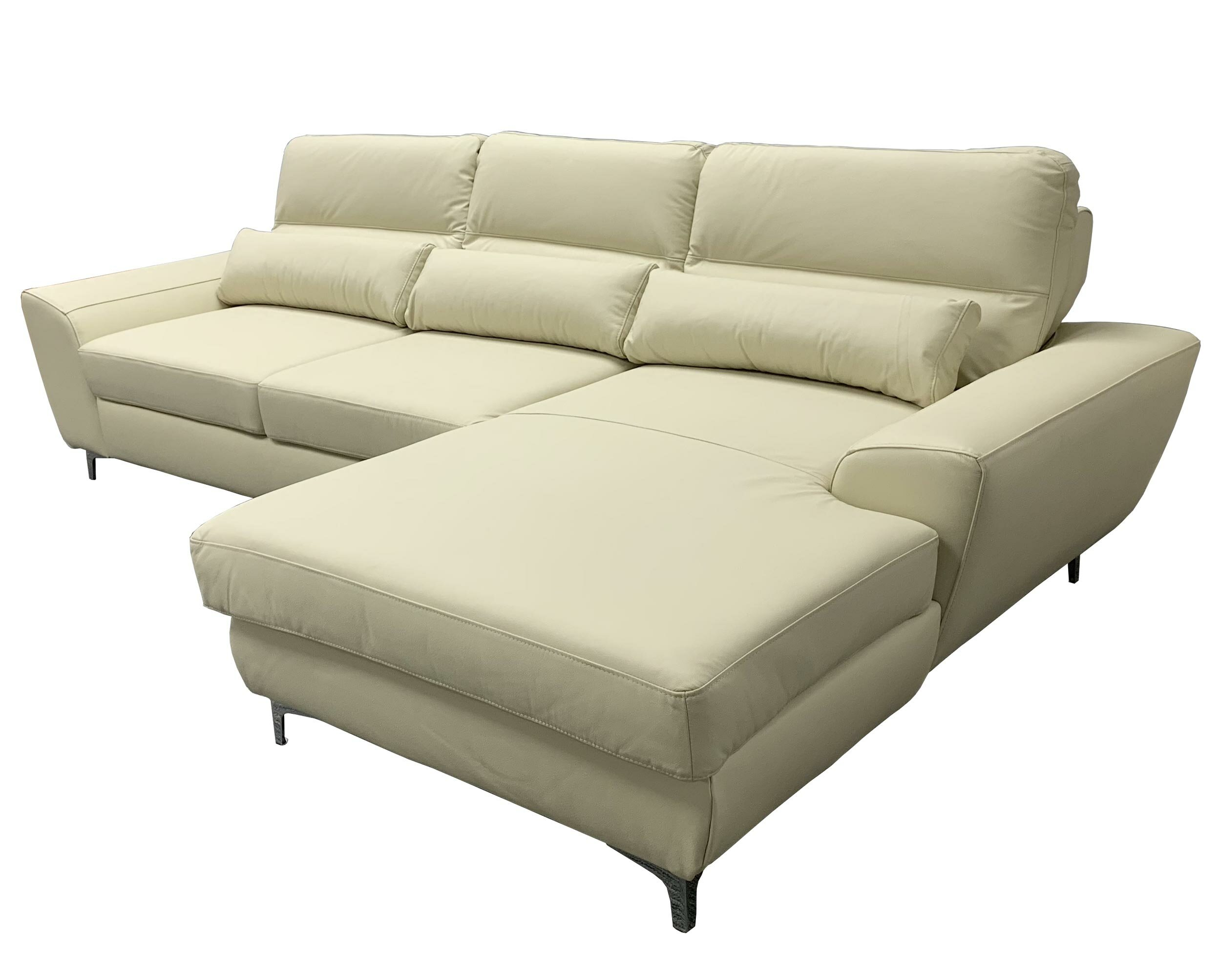 Warlo Right Hand Facing Leather Sleeper Sectional