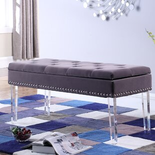 Esmeyer Tufted Mid-Century Nailhead Trim Upholstered Storage Bench by House of Hampton