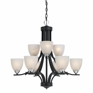 Red Barrel Studio Crofoot 9-Light Shaded Chandelier