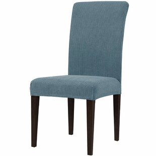 Stretch Jacquard Box Cushion Dining Chair Slipcover (Set Of 2) By Marlow Home Co.
