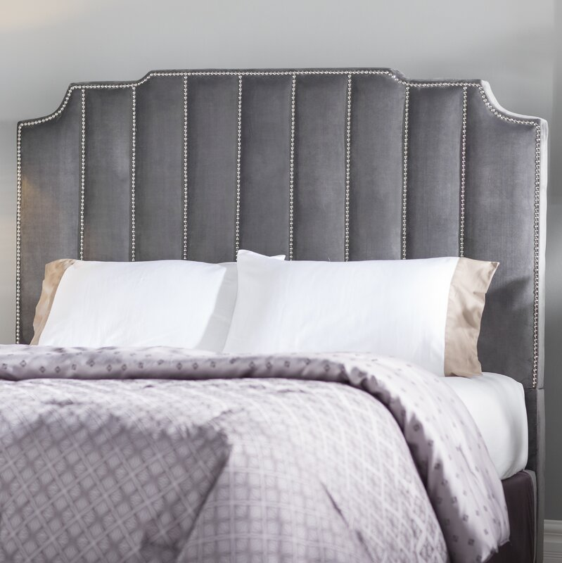 Velvet Panel Headboard. Shop Drew's Honeymoon House! {Master Suite} #velvetbed
