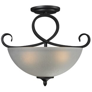 Hummel 3-Light Semi-Flush Mount by Bloomsbury Market