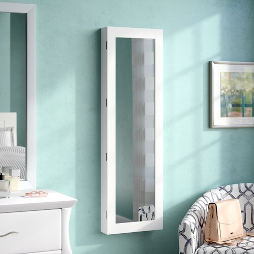Wall Mount Jewellery Armoire with Miror