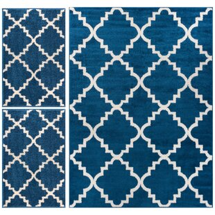 Royal Court 3 Piece Blue Area Rug Set By Well Woven