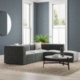 Lotte 92 Reversible Modular Sectional with Ottoman by Wrought Studio™