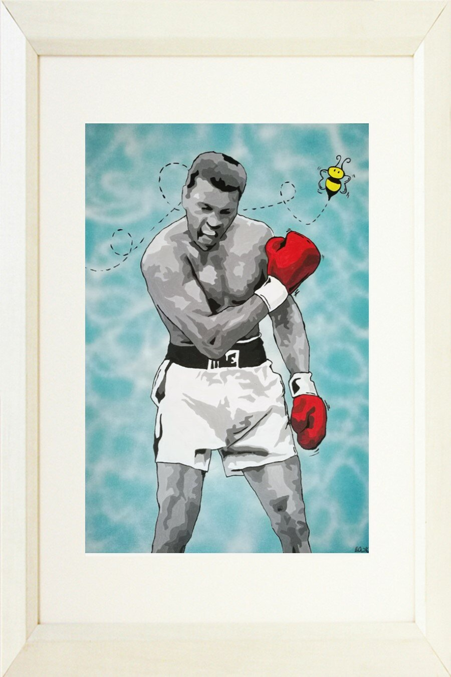 MUHAMMAD ALI FLOAT LIKE A BUTTERFLY STING LIKE A BEE PHOTO ON FRAMED CANVAS AR