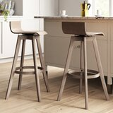 Dery Swivel Bar & Counter Stool (Set of 2) by Mercury Row