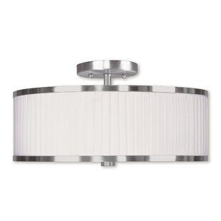 Cana Drum/Cylinder Shade Semi Flush Mount by Latitude Run