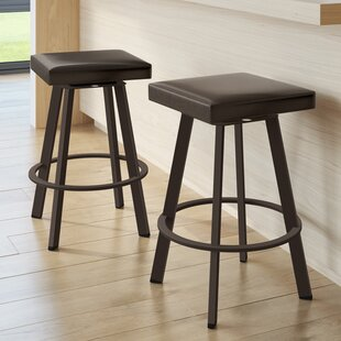 Leesa 26 Swivel Bar Stool Wrought Studio