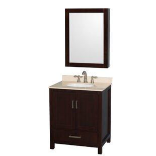 Sheffield 30 Single Espresso Bathroom Vanity Set with Mirror by Wyndham Collection