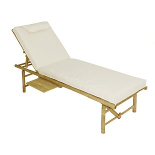 Oberon Bamboo Lounger With Mattress - White (Set of 5)