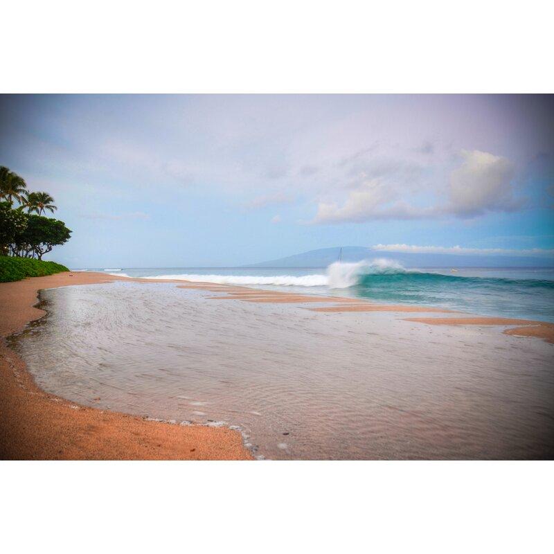 Hadleyhouseco Kaanapali Sunrise Wave Hawaiian Islands By Kelly Wade Photographic Print On Wrapped Canvas Wayfair