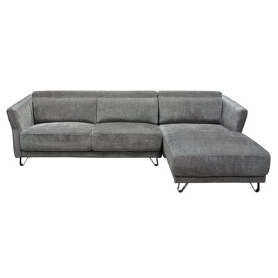 Diamond Sofa Naomi Sectional Upholstery: Grey