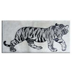 Buy luxury Maolis Cotton Black/White Area Rug By World Menagerie