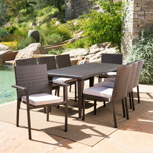 Ivy Bronx Renea Outdoor 9 Piece Dining Set with Cushions