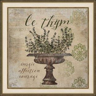 5973ae71dea  French Herbs Le Tyme  Framed Graphic Art Print