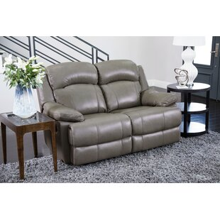 Shop Nigel Leather Reclining Loveseat by Darby Home Co