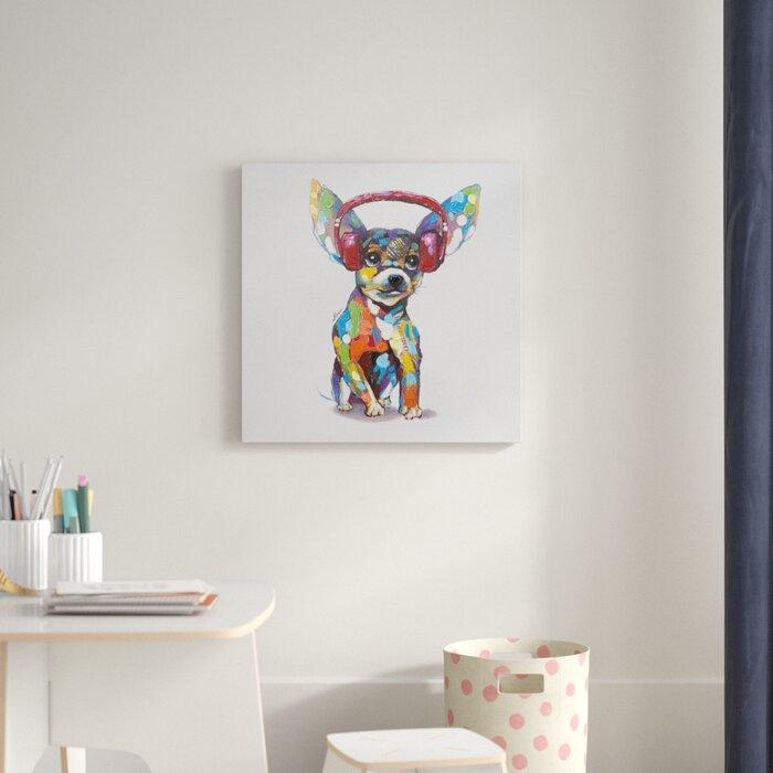 Dog Beats Iv Canvas Art