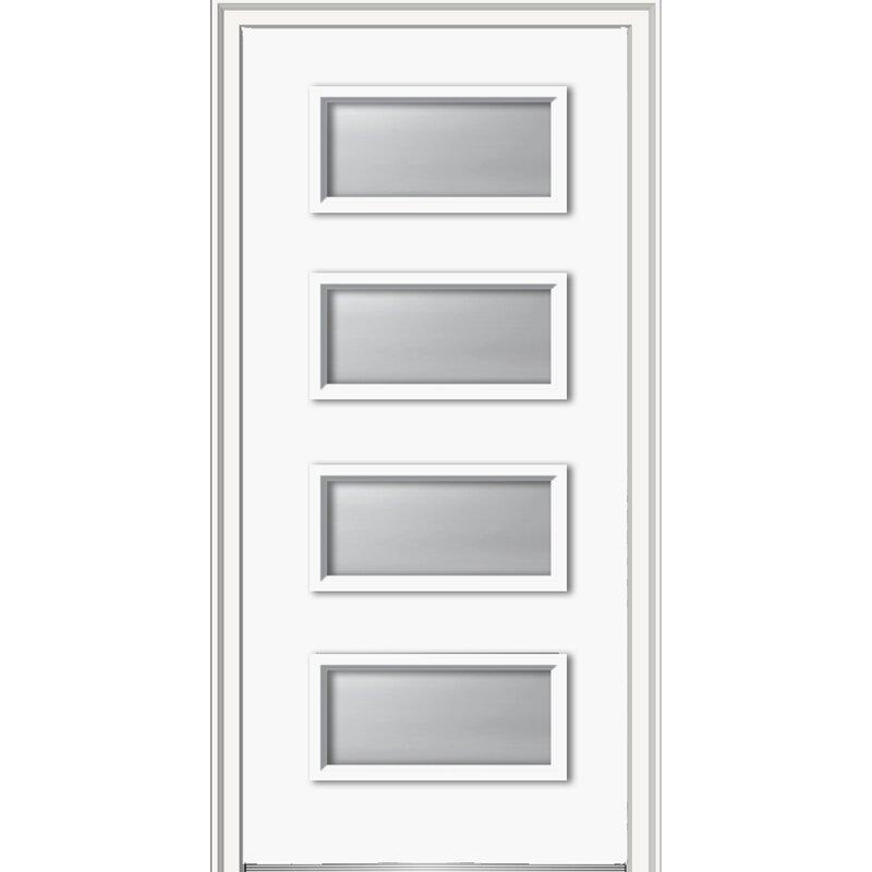 Verona Home Design 4 Lite Steel Prehung Front Entry Door Wayfair