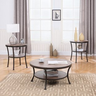Wragby 3 Piece Coffee Table and End Table Set Ebern Designs