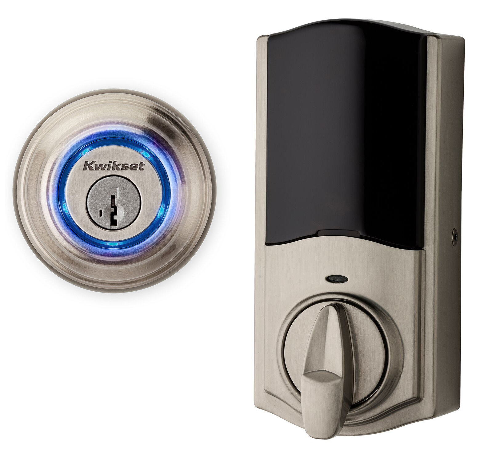 Kwikset 2nd Gen Touch To Open Single Cylinder Smart Deadbolt With Bluetooth Capability And Smartkey Wayfair