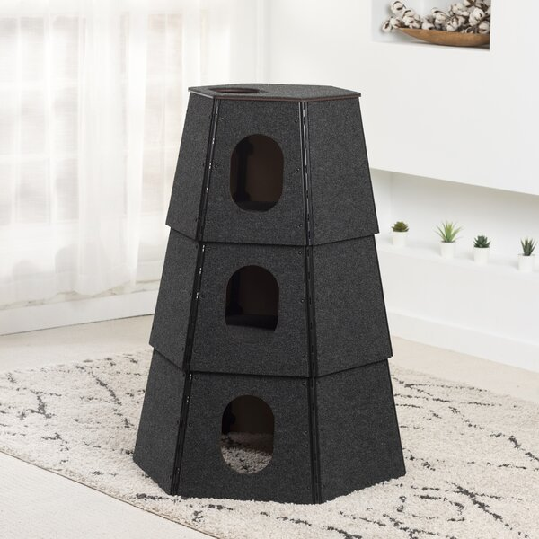 Happystack 3 Unit Hexagon Cat Condo