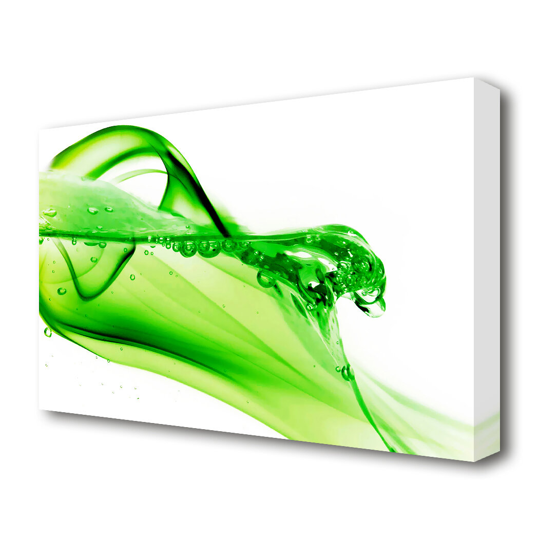 East Urban Home Green Diamond Drops Graphic Art On Wrapped Canvas Wayfair Co Uk