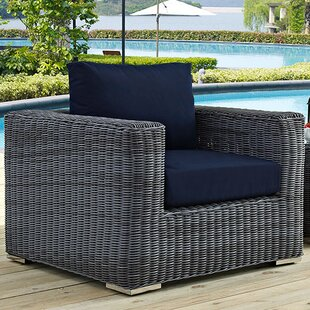 Keiran Outdoor Patio Arm Chair with Cushions