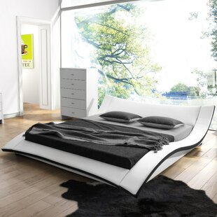 Damen Upholstered Platform Bed by Wade Logan