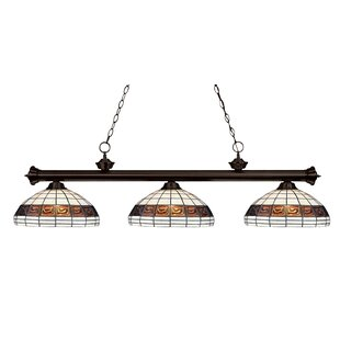 Fleur De Lis Living Biarritz 3-Light Pool Table Lights Pendant