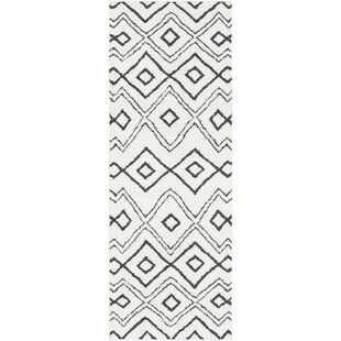 Best Choices Aghanliss Bohemian Black/Charcoal Area Rug By Ivy Bronx