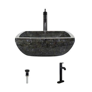 Inexpensive Butterfly Stone Square Vessel Bathroom Sink with Faucet By MR Direct