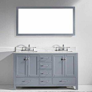 60 Inch Off White Bathroom Vanity shop 10,072 bathroom vanities | wayfair