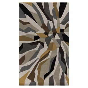 Conroy Bone Hand-Tufted Gray/Brown Area Rug byWrought Studio