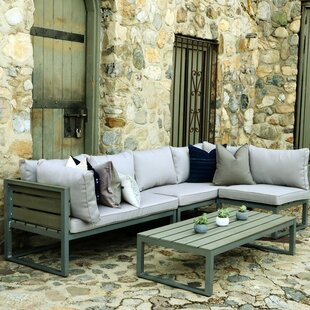 4 Piece Sectional Seating Group with Cushions
