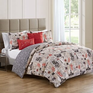Uxbridge Paris 5 Piece Reversible Duvet Cover Set