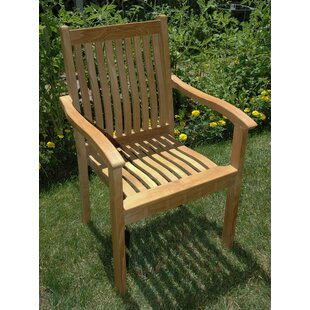 Rossford Stacking Teak Patio Dining Chair (Set of 4)